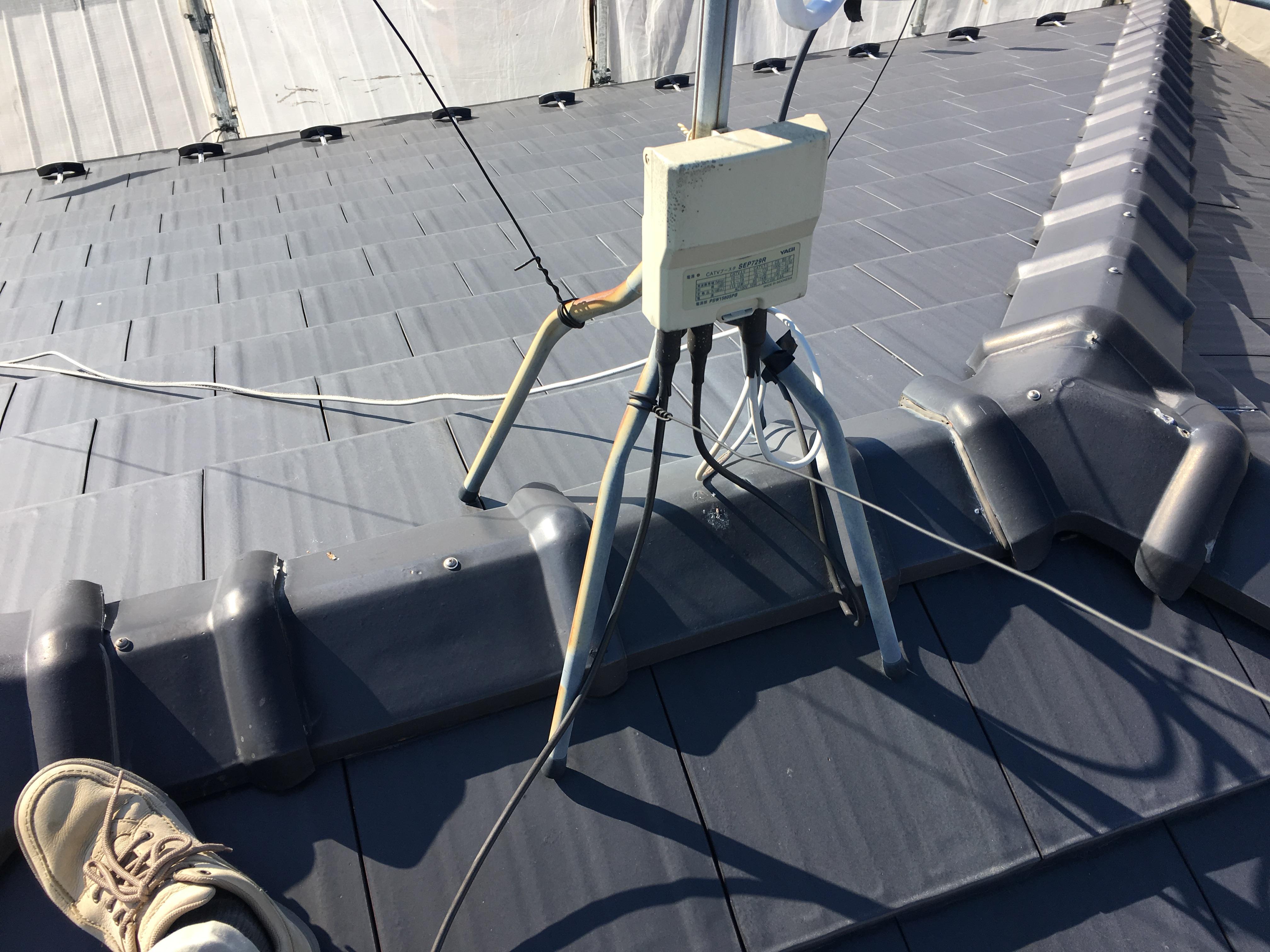 多治見 リフォーム リノベーション 外壁の塗装 アンテナの確認 暮らし、満たす、リノス